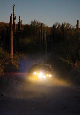 Rockstar Energy Trophy Truck at Baja 1000 night